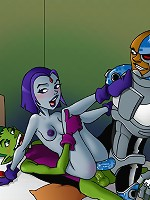One-on-one and group sex with gorgeous Teen Titans